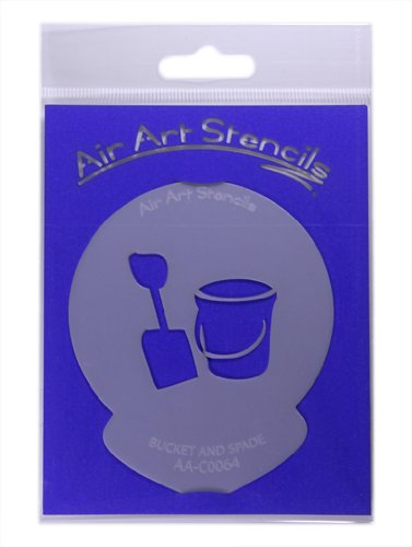 Price comparison product image Bucket and Spade Cupcake Stencil - Reusable Flexible Food Grade Plastic Stencil for Cake and Craft Design, Airbrushing and more