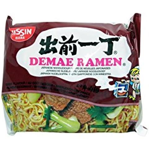 Nissin Demae Ramen giapponese Noodle Soup, Manzo Sapore - 100g