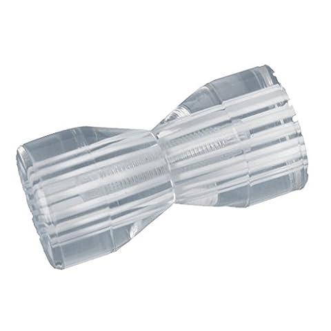 SODIAL(R) Bouton pour Porte de douche (verre), forme conique, transparent