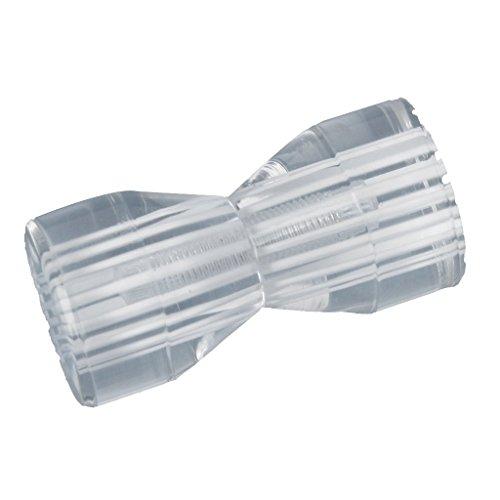 TOOGOO(R) Bouton pour Porte de douche (verre), forme conique, transparent