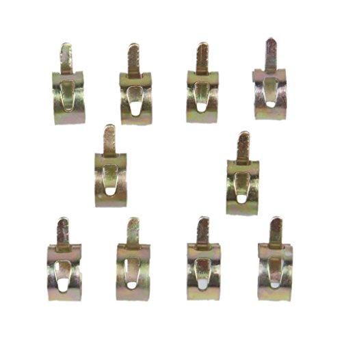 Preisvergleich Produktbild Gazechimp 10 X Federklemme Benzinschlauch Leitungswasserrohr Air Rohrschellen Fastener Durchmesser 12mm