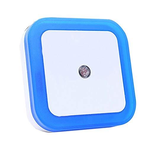 VBWER 0.5W Plug-in Auto Sensor Control LED Night Light Lampada per camera da letto Corridoio Bianco(Blu)