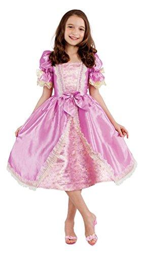 Karneval-Klamotten Prinzessin Kostüm Mädchen Prinzessin Kleid Kinder Luxus rosa Gold kurz Märchen-Prinzessin Karneval Kinder-Kostüm Größe 128 (Rosa Und Gold Prinzessin Kostüm)