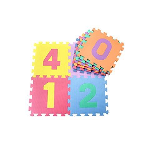 YAzNdom Tapis de Sol en Mousse, Ensemble de 10pièces, Tapis d'exercice de Puzzle avec des tuiles imbriquées de Mousse d'EVA, Taille dans 30 * 30 * 0.8cm,