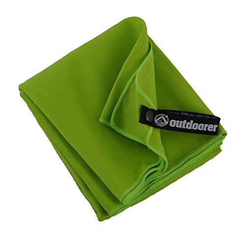 outdoorer PackDRY Reisehandtuch, schnelltrocknend, ultraleicht, kleines Packmaß - das Mikrofaser Handtuch (L)