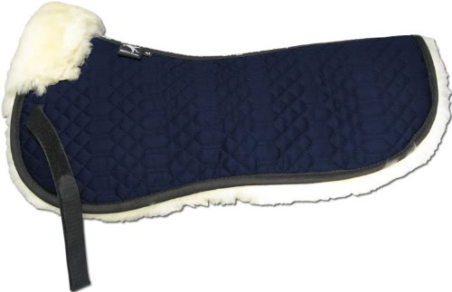 ENGEL GERMANY Demi-Chabraque DE LUXE en peau de mouton couleur coton bleu (Sakis 1) Combinez-vous avec 12 coleur de peau de mouton