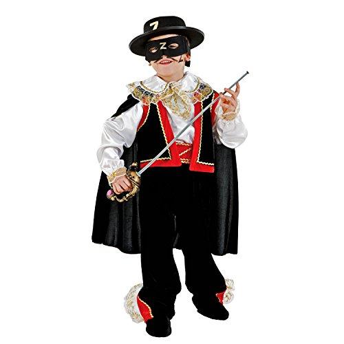 kostüm Schwarzer Rächer Zorro Maske Umhang Fasching Karneval Rächer der Armen Abenteurer (122) ()