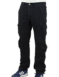 JetLag Herren Cargohose mit Seitentaschen 008 schwarz - fällt normal aus
