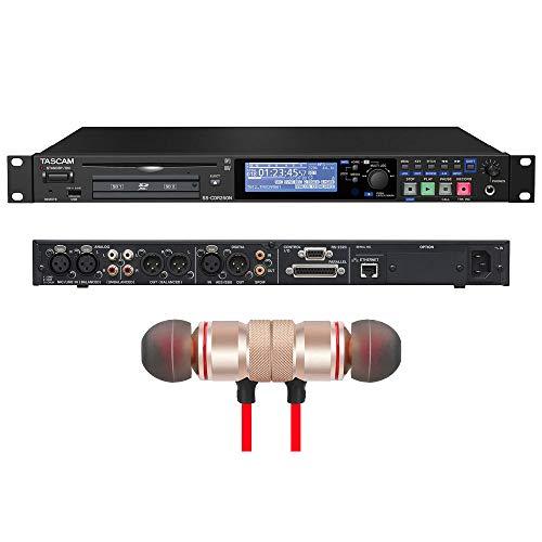 Tascam SS-CDR250N 2-Kanal-Netzwerk-CD und Media-Recorder, inklusive kabelloser Kopfhörer, Stereo, Bluetooth-Kopfhörer und 1 Jahr Musik