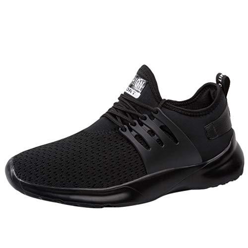 Beikoard Sportschuhe Herren Casual Laufschuhe Atmungsaktive Flats Schuhe Sneaker Kletterschuhe Einfarbige Freizeitschuhe aus Mesh