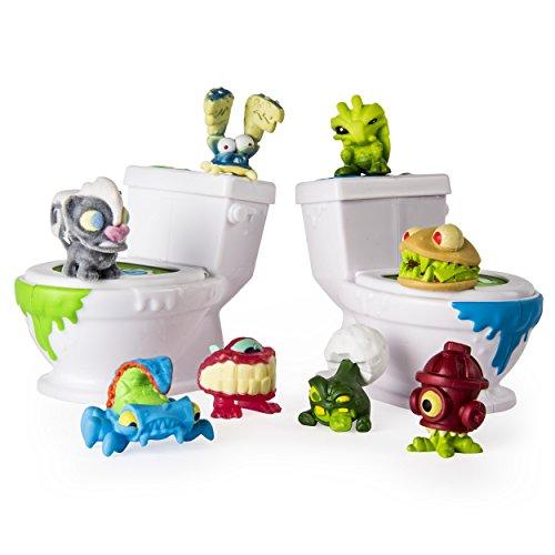Flush Force 6037317 - Bizarre Bathroom 8er-Set, Klo-Set mit 8 Figuren, zum Sammeln -