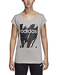 adidas Originals Essentials Season All Over Print T-Shirt Damen grau schwarz,  L 71163bf9ec