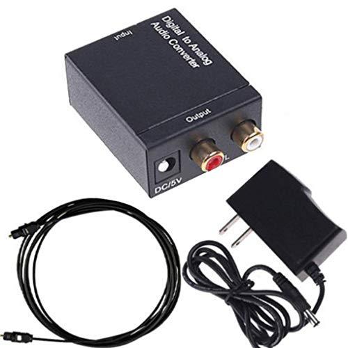 Zerama Coassiale Ottico Toslink Digitale-analogico convertitore Audio Adattatore RCA L/R 3,5 Millimetri Porta di Uscita