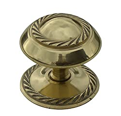 Bulk Hardware Bh02558 Georgian Cupboard Cabinet Door Knob, 50mm (2 Inch) - Polished Brass