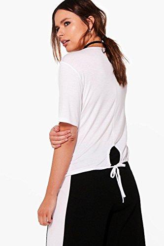 Noir Femmes Hazel T-shirt Basique Avec Cordon De Serrage Noir