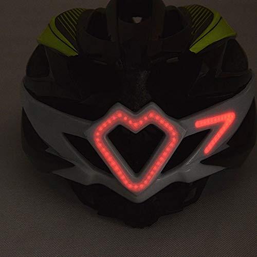 HYH Intelligente Fernlenkung Lenkhelm LED Leuchthelm Fahrrad Fahrradhelm für Männer und Frauen gutes Leben (Farbe : Green)