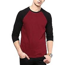 IZINC Men's Raglan Neck Full Sleeve Cotton T-Shirt