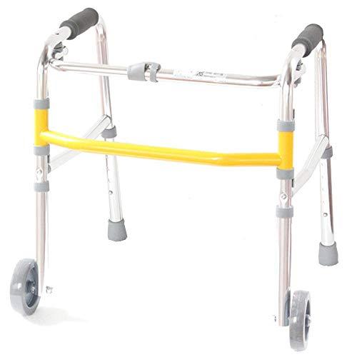 ZXL Walker Aluminium Folding mit Rädern deaktiviert unteren Extremitäten Rehabilitation Training Stand Geschenk -