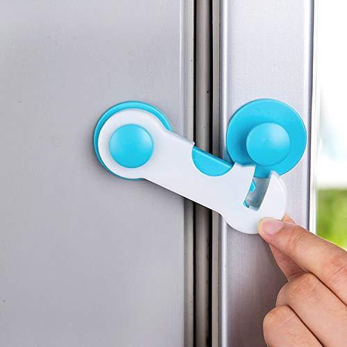 Baby-Sicherheitsschlösser - Kindersichere Schränke, Schubladen, Geräte, WC-Sitz, Kühlschrank und Backofen-Klebesystem, 1 Stück -