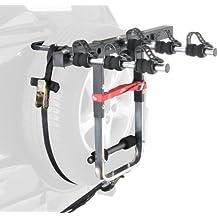 Mottez - Portabicicletas con correas para maletero (3 bicicletas), color negro