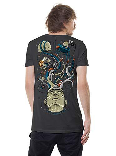 Herren T-Shirt Druck Ich verliere den Verstand AFFE mit Zimbel Grafik Skatertop XL