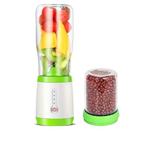 ldqlsq frullatore per smoothie, frullatore per frutta e verdura frantoio del miscelatore del succo di vetro della macchina di cottura multifunzionale dello spremiagrumi con il coltello,verde