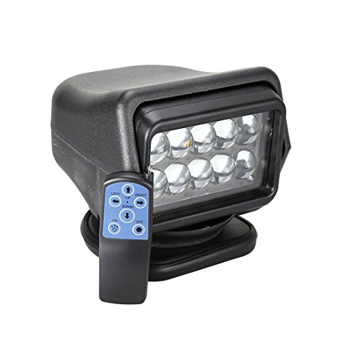 Toppower Suchscheinwerfer 50W CREE LED Suchlicht Arbeitsleuchte Funkfernsteuerbar mit Magnetfuß Wetterfest 360 Grad drehbar Offroad Jagd DC 12V Schwarz