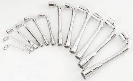 SAM Outillage 94-SDJ12Z Jeu de 12 clés à pipe débouchées 6/6 pans de 7 à 24 mm en module