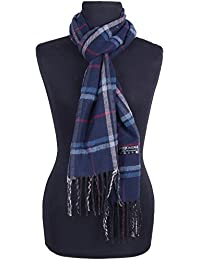 Fifbi Woolen Muffler,Scarves,Stoles For Men & Women(Checked Blue, Party Wear,Casual Wear)