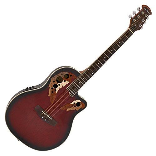 Deluxe Roundback Elektro-Akustik Gitarre Red Burst