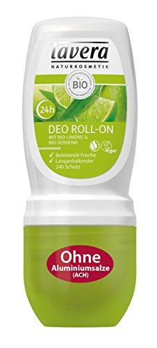 lavera Deo Roll On 24h Bio Limone, Belebender Duft, 24 Stunden Deo Schutz, Deodorant ohne Aluminium, Natural und innovative, Körperpflege 1er Pack (1 x 50 ml) -