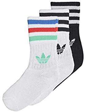 Adidas cd6069Calze Bambino, bambini, CD6069, Blanc/Noir/Hi-Res Green, FR : M (Taille Fabricant : 35-38)