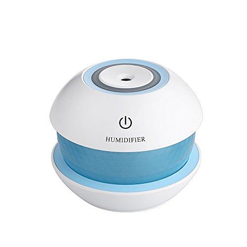 Luftbefeuchter, tragbare Mini-USB Ultraschall-Luftbefeuchter + 7 Farben LED kleine Nachtlicht für Schlafzimmer, Bad, Wohnzimmer so weiter (passend als Geschenk)