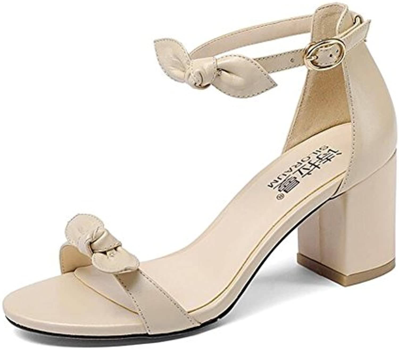 HUAIHAIZ Tacones de Mujer Los Zapatos de Tacón Alto o Sandalias Calzados Femeninos Sandalias Noche,35, Negro -