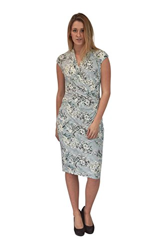 Floral Jersey Wrap Kleid (PER UNA Blue Floral Jersey Wrap Dress Size 12)