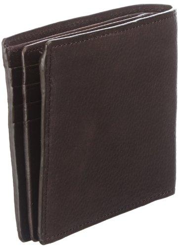 Strellson Harrison BillFold H8 4010001045 Herren Geldbörsen 12x10x1 cm (B x H x T), Schwarz (black 900) Braun (dark brown 702)