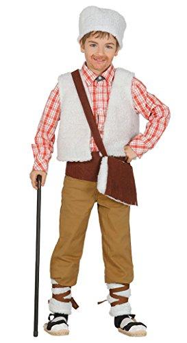 Imagen de guirca  disfraz infantil de pastor, 7 9 años, color beige 42699.0