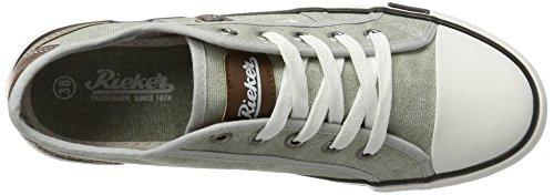 Rieker M2212, Sneakers Basses Femme Gris (Shark/brown / 40)