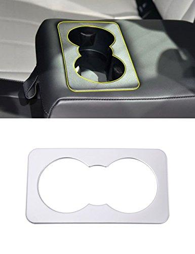 car-styling ABS Chrom Innen Dekoration Auto-Rücksitz Wasser Cup Getränkehalter Rahmen Cover Trim Zubehör für velarer 2017