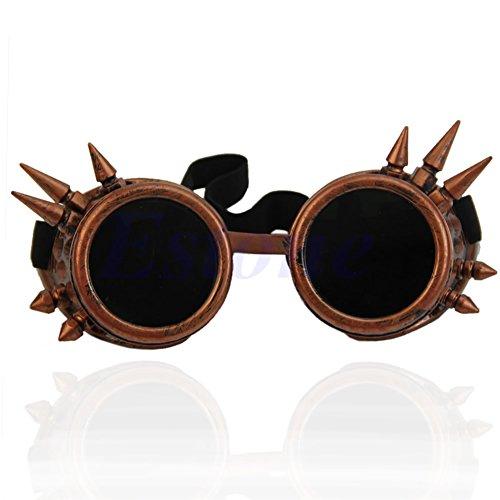 Brille Vintage viktorianisch Gothic Cosplay Nieten Steampunk Brille Schweißen Punk Rcp