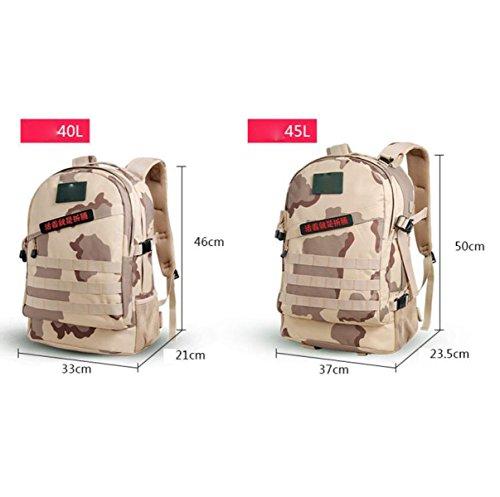Multifunktionale Wasserdichte Oxford Cloth Camouflage Outdoor Bergsteigen Tasche,DesertDigital40L Black40L