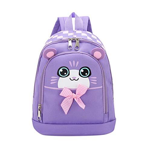 ZEELIY Rucksack Für Schule, Student Jungen \\u0026 Mädchen Kinder Cartoon Katze Tier Rucksack Kleinkind SchultascheCanvas Rucksack Schulrucksack Wanderrucksack Reisetasche