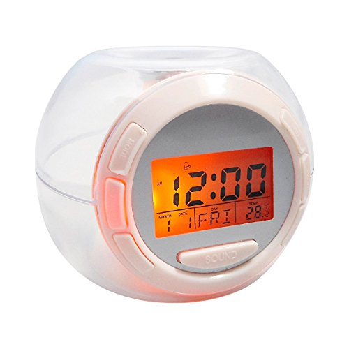 Jocca 1164 Reloj Despertador Sonidos Naturales Luz