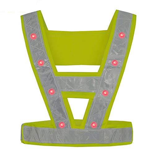 LAIABOR Gilet réfléchissant LED Feux de sécurité vêtements V-Road Road Vest assainissement Lumineux vêtements de Travail