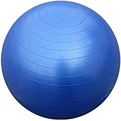 Kabalo Bleu 65cm ANTI BURST EXERCICE DE GYM YOGA SWISS ballon de fitness pour femmes enceintes accouchement, etc. (y compris pompe) (Blue 65cm ANTI BURST GYM EXERCISE SWISS YOGA FITNESS BALL for PREGNANCY BIRTHING, etc (including pump)) Accueil du matériel de gymnastique!