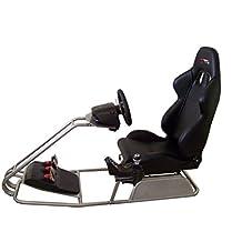 GTR Simulator GTS - Simulador de conducción, con asiento ajustable, cabina de mando y soporte para cambio de marchas