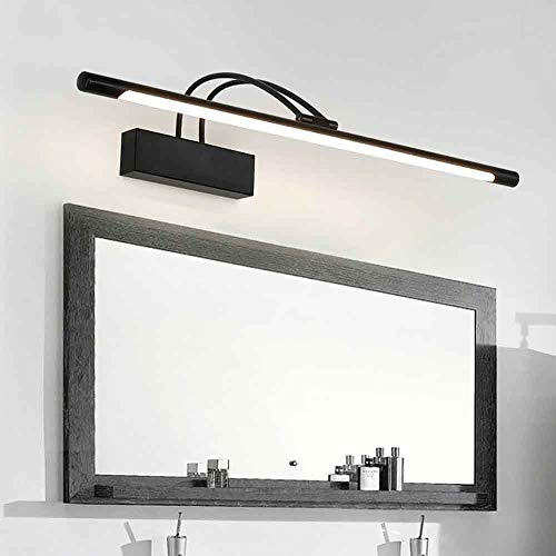 Luz de espejo de 6W de pared, luz de espejo, maquillaje negro, iluminación blanca pura, espejo de baño...