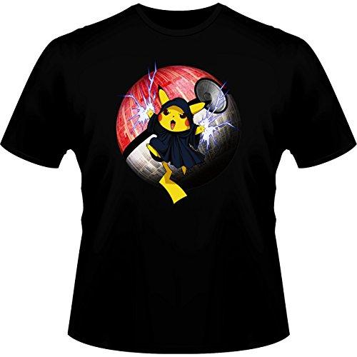 Parodie auf Pikachu von Pokemon und Dark Sidious von Star Wars Herren T-shirt (779) Schwarz