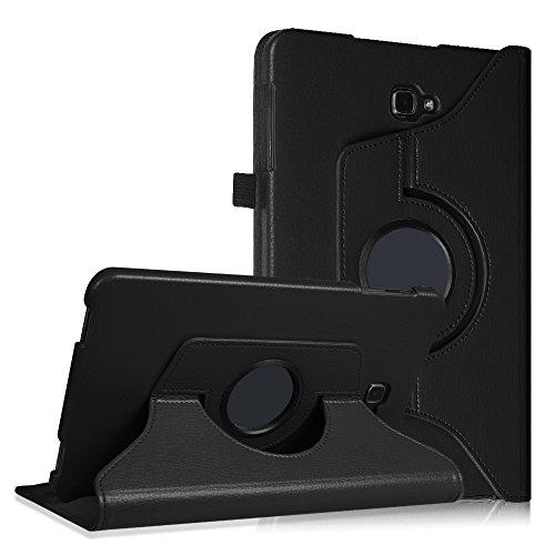 Fintie Samsung Galaxy Tab A 10.1 Hülle - 360° Drehbarer Stand Cover Case Schutzhülle Tasche Etui mit Ständerfunktion Auto Schlaf / Wach Funktion für Samsung Galaxy Tab A 10,1 Zoll T580N / T585N Tablet (2016 Version), Schwarz (Samsung Tablet Tasche Für Auto)