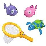 Symiu Badespielzeug Schildkröte Delphin Fisch Wasserspielzeug Angeln Pool Schwimmbad Geschenk Spielzeug für Kinder ab 12 Monate (MEHRWEG)